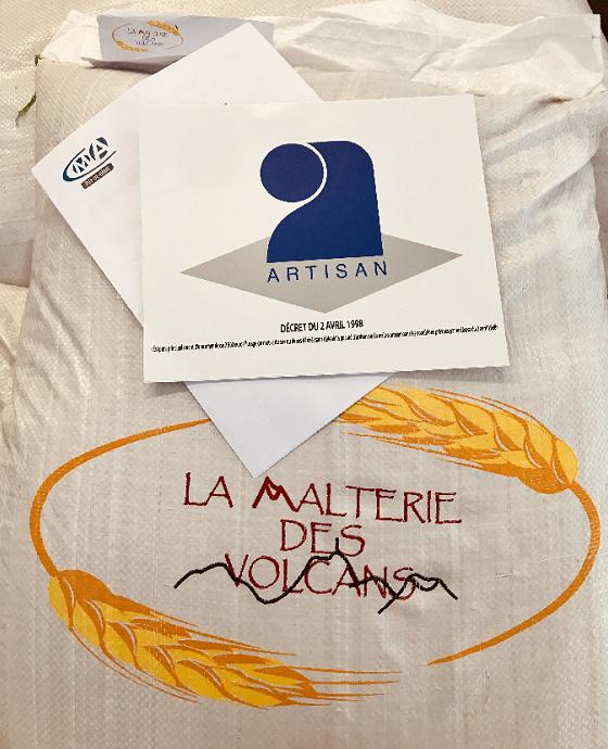 logo artisan malteur, la malterie des volcans malt artisanal pour brasseur professionnel et amateur